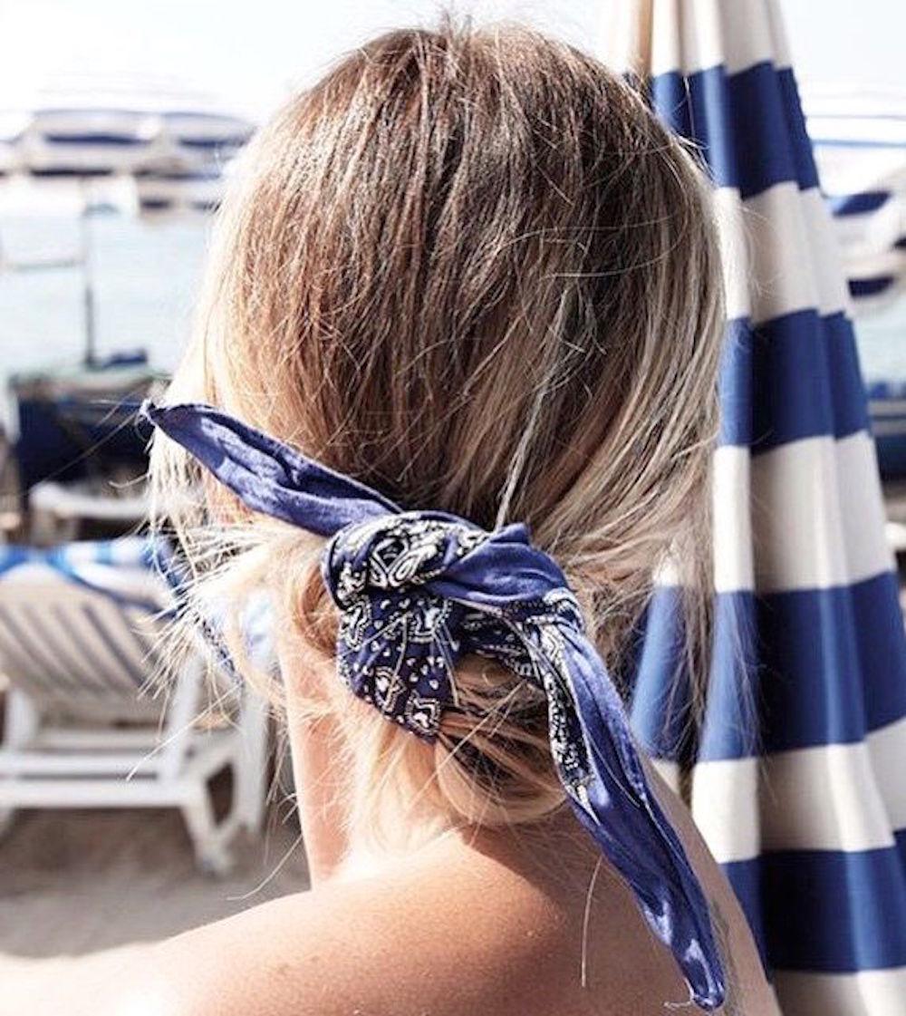 Navy in hair