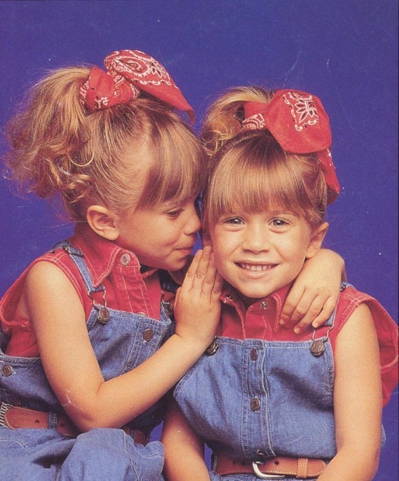 red - mary kate and ashley